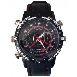Montre camera espion 4Go bracelet noir