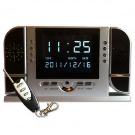 Réveil caméra espion infrarouge détecteur de mouvement télécommandé