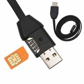 Câble chargeur USB GSM avec traqueur de position GPS et mouchard