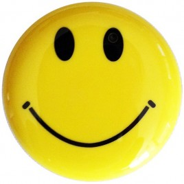 Broche smiley camera espion