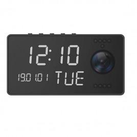 Réveil à caméra intégrée Full HD 1080P Wifi vision nocturne audio bidirectionnel
