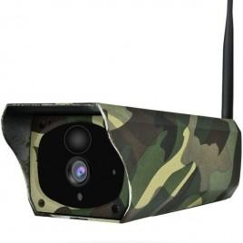 Caméra de surveillance Full HD 1080P pour extérieur à panneau solaire vision de nuit Wifi P2P
