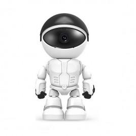 Robot à caméra de surveillance wifi 1080P vision à infrarouge audio bidirectionnel