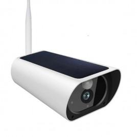 Caméra de surveillance Full HD 1080P pour extérieur à panneau solaire Wifi et IP Zoom X4