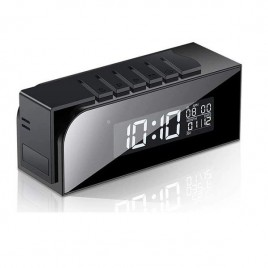 Réveil à caméra espion Full HD 1080P à vision à infrarouge et détecteur de mouvement