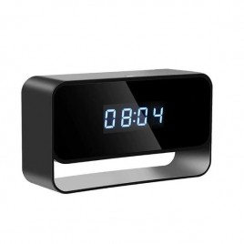 Réveil rectangulaire à caméra espion Full HD 1080P détecteur de mouvement Wifi