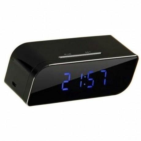 Réveil matin mini camera intégrée 1080P Wifi vision nocturne et détecteur de mouvement