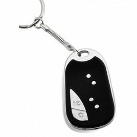 Porte-clés avec caméra espion intégrée gris noir